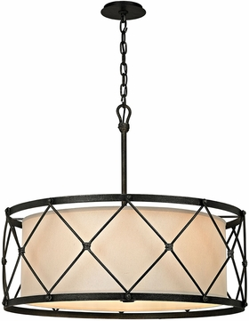 Troy F5946 Palisade Contemporary Aged Pewter Drum Drop Lighting