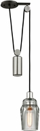 Troy F5992 Citizen Modern Graphite And Polished Nickel Mini Ceiling Light Pendant