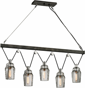 Troy F5995 Citizen Modern Graphite And Polished Nickel Island Light Fixture