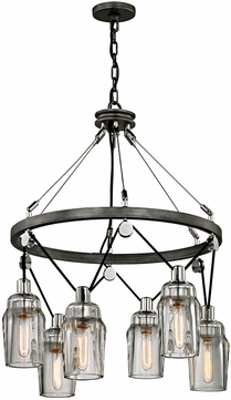 Troy F5996 Citizen Contemporary Graphite And Polished Nickel Hanging Chandelier