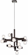 Troy F6074 Network Contemporary Forest Bronze And Polished Chrome Xenon Chandelier Light