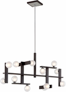 Troy F6075 Network Modern Forest Bronze And Polished Chrome Xenon Island Lighting