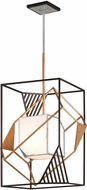 Troy F6086 Cubist Modern Bronze w/ Gold Leaf And Polished Stainless Foyer Lighting Fixture
