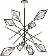 Troy F6148 Javelin Modern Bronze And Polished Stainless Chandelier Light