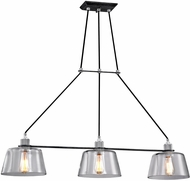 Troy F6154 Audiophile Contemporary Old Silver And Polished Aluminum Kitchen Island Lighting
