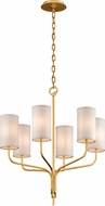 Troy F6166 Juniper Gold Leaf Mini Chandelier Light