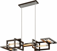 Troy F6185 Enigma Contemporary Bronze Island Lighting