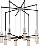 Troy F6198 Xavier Contemporary Iron 36  Chandelier Lamp