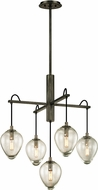 Troy F6206 Brixton Contemporary Graphite Mini Chandelier Light