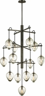Troy F6208 Brixton Contemporary Graphite 36  Hanging Chandelier