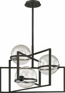 Troy F6223 Elliot Modern Black Xenon Mini Chandelier Light