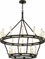 Troy F6238 Sutton Black Candle Lighting Chandelier