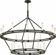 Troy F6239 Sutton Black Candle Chandelier Lamp