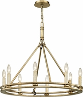 Troy F6246 Sutton Silver Leaf Candle Chandelier Light