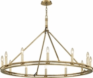 Troy F6247 Sutton Silver Leaf Candle Ceiling Chandelier