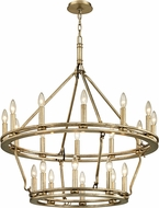 Troy F6248 Sutton Silver Leaf Candle Hanging Chandelier