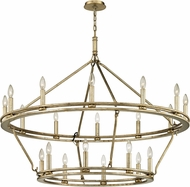 Troy F6249 Sutton Silver Leaf Candle Chandelier Light