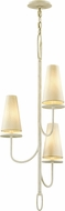Troy F6284 Marcel White Mini Ceiling Chandelier