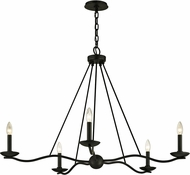 Troy F6305 Sawyer Contemporary Iron 40  Chandelier Lighting
