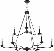Troy F6309 Sawyer Traditional Forged Iron Chandelier Light
