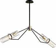 Troy F6319 Raef Modern Textured Bronze Brushed Brass Island Lighting