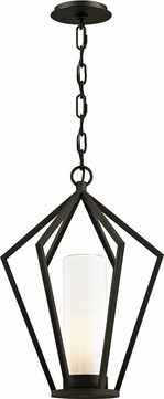 Troy F6347 Whitley Heights Contemporary Black Exterior Pendant Light Fixture