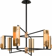 Troy F6786 Emerson Contemporary Carbide Black / Brushed Brass Ceiling Chandelier
