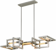 Troy F7105 Enigma Contemporary Silver Leaf w/ Stainless Accents Island Lighting
