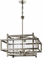 Troy F7136 Crosby Modern Antique Silver Leaf Foyer Lighting