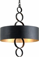 Troy F7234 Rivington Charred Copper 20  Drum Pendant Lamp