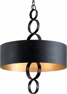 Troy F7235 Rivington Charred Copper 26 Drum Hanging Lamp