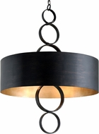 Troy F7236 Rivington Charred Copper 36.25  Drum Hanging Light
