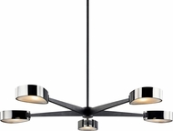 Troy F7335 Allisio Carbide Black and Black Chrome 49  Chandelier Lighting