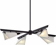 Troy F7464 Kite Carbide Black and Polished Nickel Chandelier Lamp