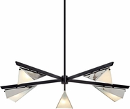 Troy F7465 Kite Carbide Black and Polished Nickel Chandelier Light