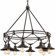 Troy F7598 Shelton Retro Vintage Bronze Outdoor Chandelier Light