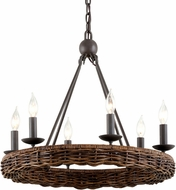 Troy F7635 Nest Brooklyn Bronze 23.25  Chandelier Lamp