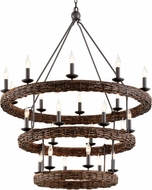 Troy F7638 Nest Brooklyn Bronze 40.5  Hanging Chandelier