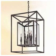 Troy F9998 Morgan Large Wrought Iron Foyer Light