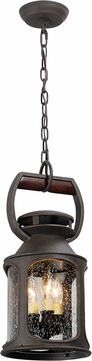 Troy FF4517 Old Trail Traditional Solid Aluminum Fluorescent Outdoor Mini Pendant Light Fixture