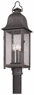 Troy P3215 Larchmont 25 Inch Tall Pewter Outdoor Post Lamp
