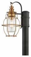 Troy P3575 Little Harbor Nautical Style 14 Inch Tall Aged Brass Exterior Lamp Post Light