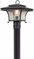 Troy P5145 Grammercy Asian Forged Iron Outdoor Post Lighting Fixture