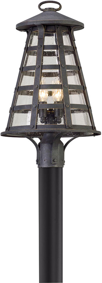 Troy p5165 benjamin vintage iron outdoor post light fixture tro p5165 troy p5165 benjamin vintage iron outdoor post light fixture loading zoom aloadofball Image collections