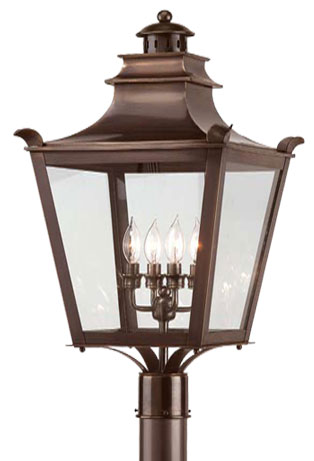 Troy P9497eb Dorchester Traditional Outdoor Lighting Post 14 Inches Wide