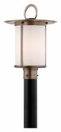 Troy PF3245 Wright Fluorescent Brass Outdoor Transitional Lamp Post Light