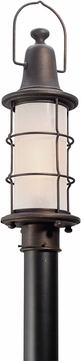 Troy PF4445 Maritime Hand Worked Iron Fluorescent Outdoor Pole Lighting Fixture