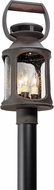 Troy PF4515 Old Trail Traditional Solid Aluminum Fluorescent Outdoor Post Lamp