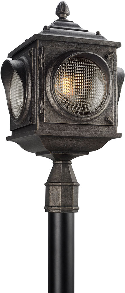 Troy pl4505 main street retro solid aluminum led outdoor post light troy pl4505 main street retro solid aluminum led outdoor post light fixture loading zoom aloadofball Choice Image