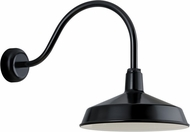 Troy RLM RS16MBK3LL23 Ezra Gloss Black Outdoor 16  Lamp Sconce